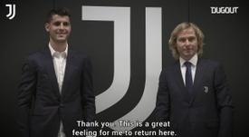 Morata returned to the Italian side. DUGOUT