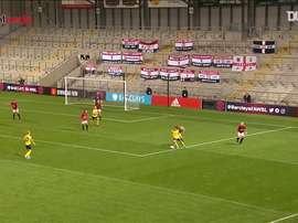 Van de Donk socred the winner. DUGOUT
