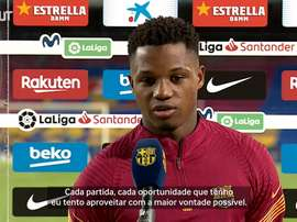Ansu Fati vibra com gols sobre o Villarreal. DUGOUT
