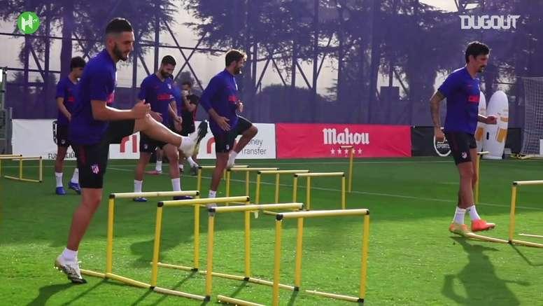 Atlético de Madrid treina em Portugal para decisão contra o RB Leipzig. DUGOUT