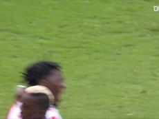 Le premier but de Disasi avec Monaco. Dugout