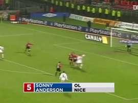 TOP 5 buts Sonny Anderson à Lyon. DUGOUT