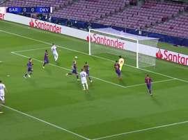 La vittoria del Barcellona in Champions. Dugout