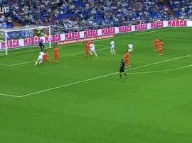 Golaço de chaleira de Cristiano Ronaldo contra o Valência. DUGOUT