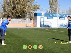 Touch and precision challenge: José Arnaiz vs Róber Ibáñez. DUGOUT