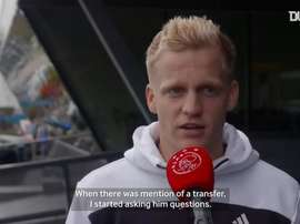 VIDEO: Donny van de Beek looks ahead to joining Manchester United. DUGOUT