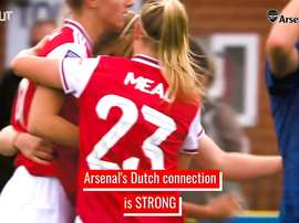 Arsenal women have quite the Dutch connection. DUGOUT