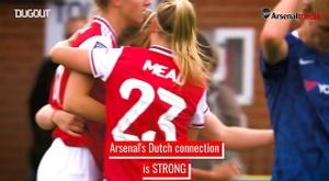 Arsenal women have quite the Dutch connection. DUGOUT