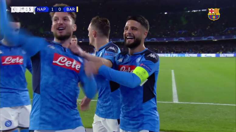 La rete di Griezmann contro il Napoli. Dugout