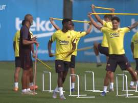 Barcelona returned to training. DUGOUT