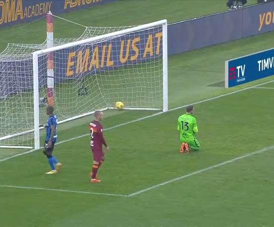 Il gol di Hakimi contro la Roma. Dugout
