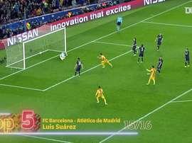 Le migliori cinque reti di Suarez in Champions. Dugout