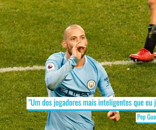 A lendária carreira de David Silva no Manchester City. DUGOUT