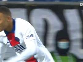 Kylian Mbappé's 100th goal for Paris Saint-Germain. DUGOUT