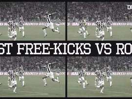 Juventus' best free-kicks against Roma. DUGOUT