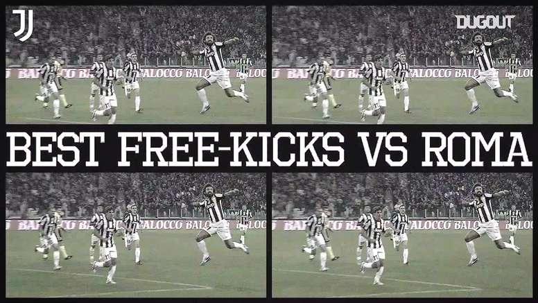 Juventus' best free-kicks against Roma. DUGOUT