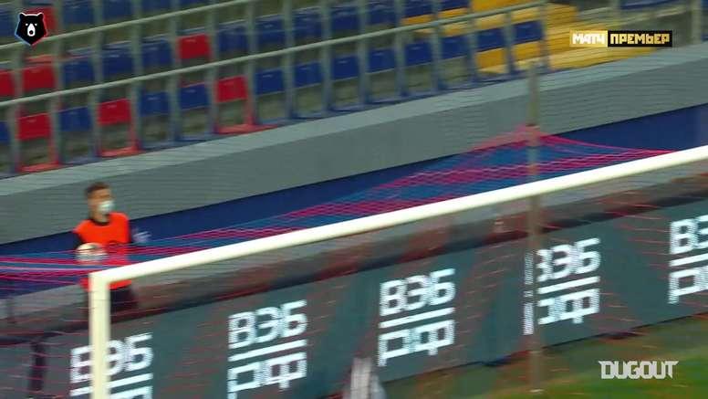 Melhores defesas da 25ª rodada do Campeonato Russo de 2019/20. DUGOUT