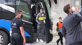 Inter de Milão treina em Düsseldorf antes das quartas da Liga Europa. DUGOUT