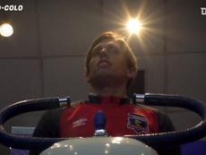 La llegada de Rossi como una estrella a Colo-Colo. DUGOUT