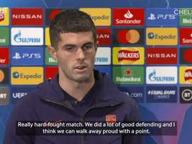 Christian Pulisic spoke after Chelsea's 0-0 draw with Sevilla. DUGOUT
