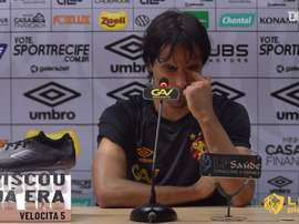 Ricardinho falou com a imprensa às vésperas do jogo contra o São Paulo. DUGOUT