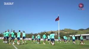Flamengo trained before the match. DUGOUT