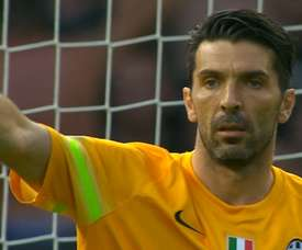 Buffon made a superb stop to deny Dani Alves, but Juve still lost to Barca. DUGOUT