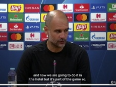 Pep spoke to the media after the match. DUGOUT