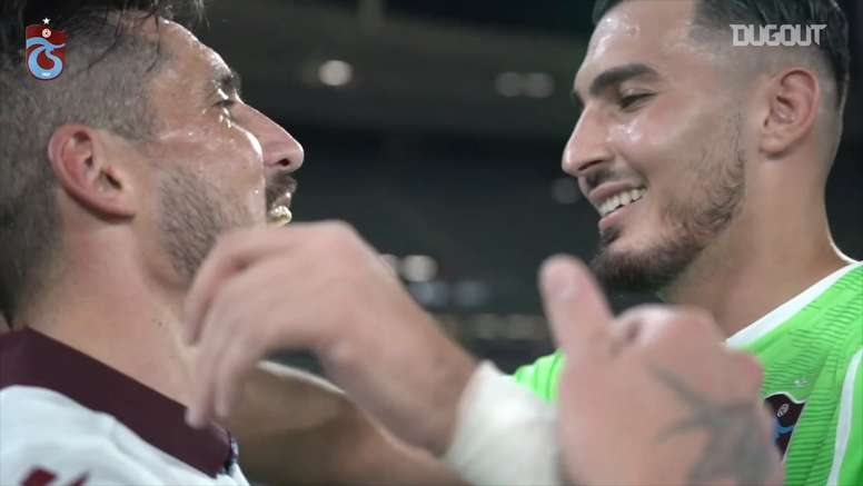 Trabzonspor won the cup. DUGOUT