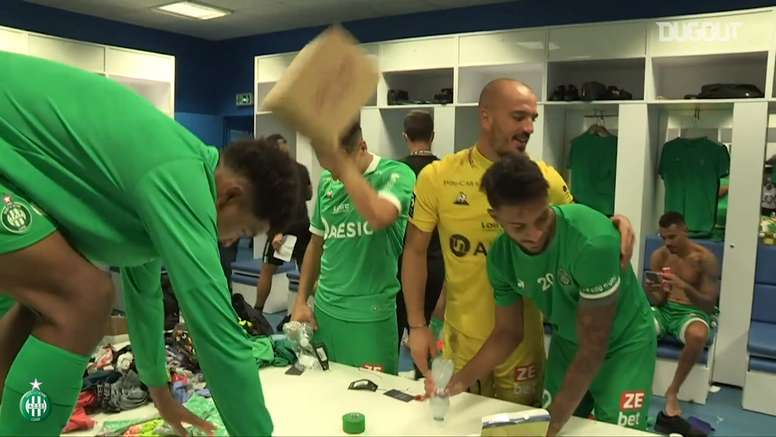 St Etienne went top of Ligue 1 after winning at Marseille. DUGOUT
