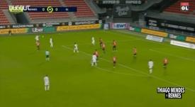 Thiago Mendes se destaca contra o Rennes. DUGOUT