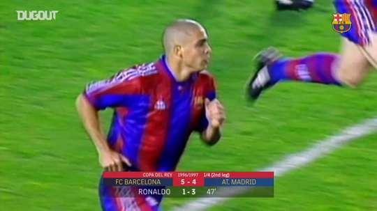 El Barça ganó por 5-4 con un 'hat trick' de Ronaldo. DUGOUT