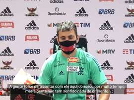 Arrascaeta torce para a permanência de Jorge Jesus no Flamengo. DUGOUT