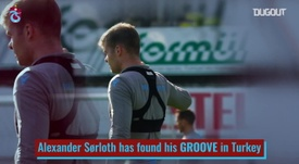Alexander Sorloth has done brilliantly for Trabzonspor. DUGOUT