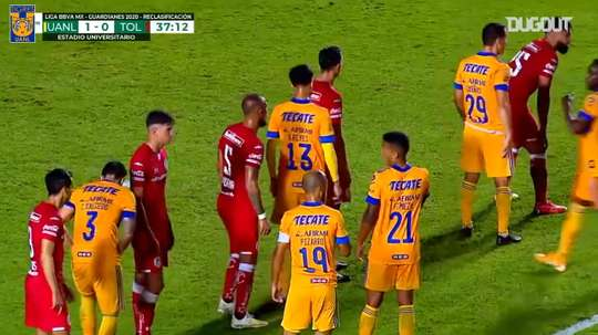 Gignac's record-breaking free-kick goal vs Toluca. DUGOUT