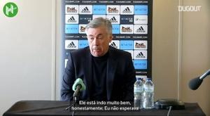 Carlo Ancelotti comentou sobre o grande momento de Dominic Calvert-Lewin. DUGOUT