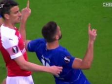 Il goal di Giroud in finale. Dugout