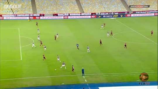Pedro marcou o gol do empate do Flamengo na final da Taça Rio. DUGOUT