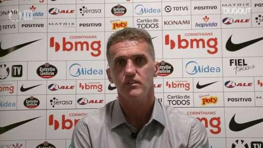 Vagner Mancini concedeu entrevista após empate do Corinthians contra o Fortaleza. DUGOUT