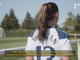 Morgan spoke about her signing for Spurs. DUGOUT