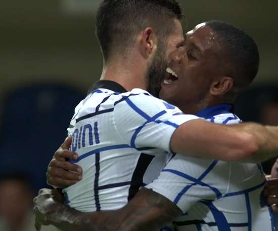 Ashley Young scored to give Inter a two goal advantage at Atalanta after 20 minutes. DUGOUT