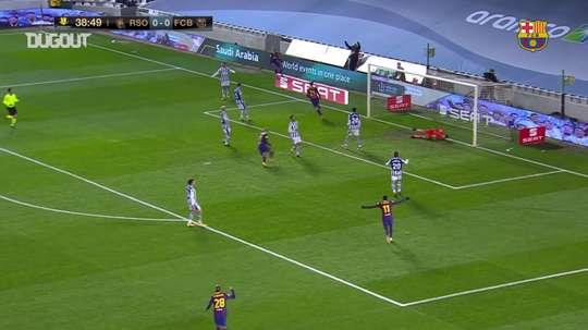 Tous les buts de Barcelone en Supercoupe d'Espagne 2020-21. dugout