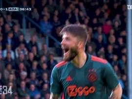 Ajax scored 119 goals in the 2018-19 Eredivisie season. DUGOUT