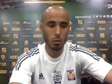 Guido Pizarro, feliz por estar en Tigres. Dugout