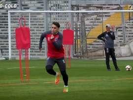 Pablo Mouche llegó a Colo-Colo en febrero de 2019. DUGOUT