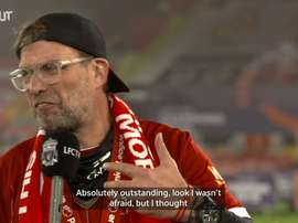 Jurgen Klopp spoke after lifting the Premier League trophy. DUGOUT