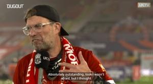 Jurgen Klopp spoke after lifting the Premier League trophy. DUGOUT