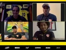 VÍDEO: Alemán, Castillo y Quiñónez se divierten en una videollamada. Captura/Dugout