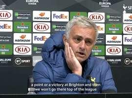 Jose Mourinho previews Spurs trip to Stamford Bridge. DUGOUT