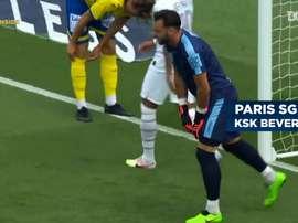 Il PSG vince 7-0. Dugout